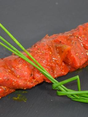 Brochette de boeuf mariné paprika