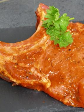Côte de porc dijonnaise