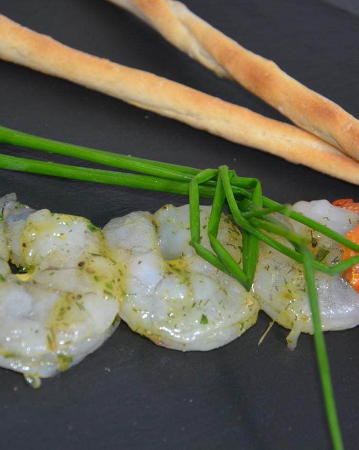 Brochette de scampi aux herbes de provence